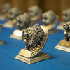 JOED VIERA/STAFF PHOTOGRAPHER-25 Quality Student Awards rest on a table during the ceremony Tuesday Night.