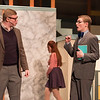 Joed Viera/Staff Photographer-Will Briggs and Ben Flaherty  perform as J.B. Biggley and J. Pierrepont Finch during rehearsals for Lockport High School's production of 'How to Succeed in Business Without Really Trying' Monday night.