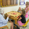 "JOED VIERA/STAFF PHOTOGRAPHER-Lockport, NY-Robert ""Gray"" Goose plays a game with Addyson Glor, Nadia Quader and Camryn Schiavitti during the YMCA's Daycamp on Tuesday, August, 26th."