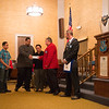 JOED VIERA/STAFF PHOTOGRAPHER-Lockport, NY-Richard Luco of the Red Jacket Masonic Lodge hands a check to the Nuñez family.