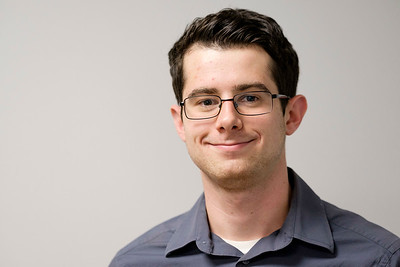 Joed Viera/Staff Photographer-Lockport ,NY-Tim Fenster stands for a portrait in the US&J newsroom.