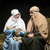 Joed Viera/Staff Photographer-Faith Garven and Clayton Gifford dress up as Mary and Joseph during rehearsals for Grace bible Church's Living Nativity. The drama will play out December 1, 2 & 3<br /> 5:30 p.m. - 8:30 p.m. at the Newfane Church
