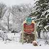 JOED VIERA/STAFF PHOTOGRAPHER-Lockprot, NY- Snow covers the trees around Children's Memorial Park.