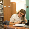 JOED VIERA/STAFF PHOTOGRAPHER-Lockport, NY-Mary Gojivic does pre-calculus homework at Lockport Public Library.