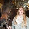 Joed Viera/Staff Photographer-Madeline Keyes with her quarterhorse Jackson.