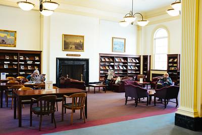 JOED VIERA/STAFF PHOTOGRAPHER- Lockport, NY-Patrons read in the Wheeler room of the Lockport Library. Friday, January, 16, 2015
