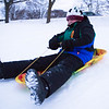 JOED VIERA/STAFF PHOTOGRAPHER-Lockport, NY-Jack Keleher 11, sleds down a hill at Lockport Town and Country Club.