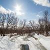 Joed Viera/Staff Photographer-Eighteen Mile Creek flows under Ridge Road.