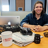 JOED VIERA/STAFF PHOTOGRAPHER-Lockport Union-Sun & Journal staff photographer Joed Viera sits at his desk for a self portrait.