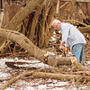 JOED VIERA/STAFF PHOTOGRAPHER-Middleport, NY-Brian McGee cuts own trees along his recently purchased property along the 3000 section of Stone Road.
