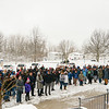 Tim Fenster/Staff- North Park Jr. High School students participate in a nationwide walk-out that is being held in honor of the one month anniversary of the school shooting in Parkland, Florida.