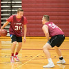 Joed Viera/Staff Photographer- Starpoint seniorsJake Walters and Kyle Schreader play a game of one on one during practice.