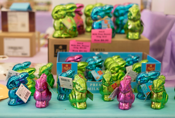 JOED VIERA/STAFF PHOTOGRAPHER-Lockport, NY-Chocolate Easter bunnies for sale in the Niagara Candy at Tops Plaza on Transit Road.