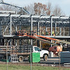 Joed Viera/Staff Photographer- <br /> Crews work on erecting the new YMCA building.