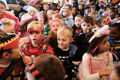 JOED VIERA/STAFF PHOTOGRAPHER-Lockport, NY-Students sport all sorts of Halloween costumes during their trip to Heritage Manor from Roy B. Kelly