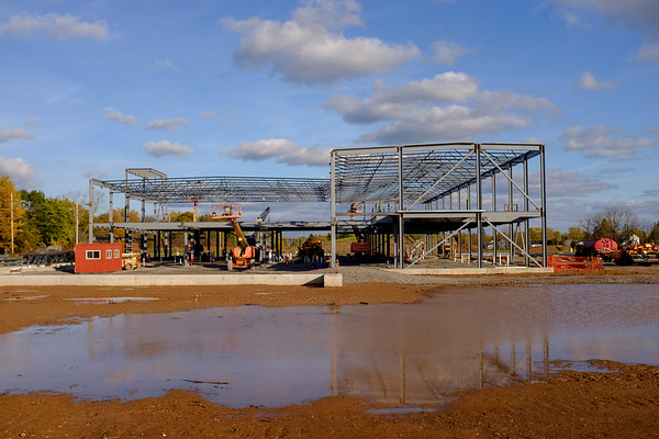 Joed Viera/Staff Photographer-Structural steel is in place at the progressing YMCA construction site.