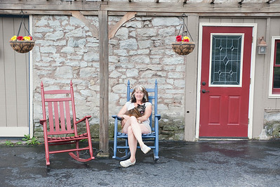 140704 JOED VIERA/STAFF PHOTOGRAPHER-Lockport, NY- Kathy O'Keefe sits outside of Windsor Village July 3, 2014.