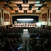 JOED VIERA/STAFF PHOTOGRAPHER-Lockport, NY-Lockport School District students are treated with a performance by the Buffalo Philharmonic Orchestra at the Lockport High School auditorium.