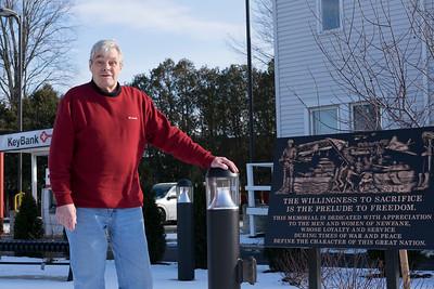 Joed Viera/Staff Photographer-Newfane,NY-Town Supervisor Timothy Horanburg stands at Veterans Memorial Park.