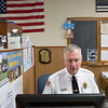 Joed Viera/Staff Photographer- Middleport Police Chief John Swick works oat the Department Thursday afternoon. Swick has been working for the department for 40 years.