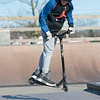 Joed Viera/Staff Photographer-Gavin Sweeney, 12, practices tricks on his scooter at Railyard Skate Park.