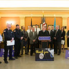 Joed Viera/Staff Photographer-Niagara County Legislature Chairman Keith McNall thanks law enforcement officers at a Lockport Blue ceremony at the Niagara County Courthouse. The Legislature along with State Senator Robert Ortt, State Assemblyman Mike Norris and Mayor Anne McCaffrey presented NY State Troopers, the Niagara County Sheriffs Office and the Lockport Police Department with various proclamations declaring November 2017 Lockport Blue Month.