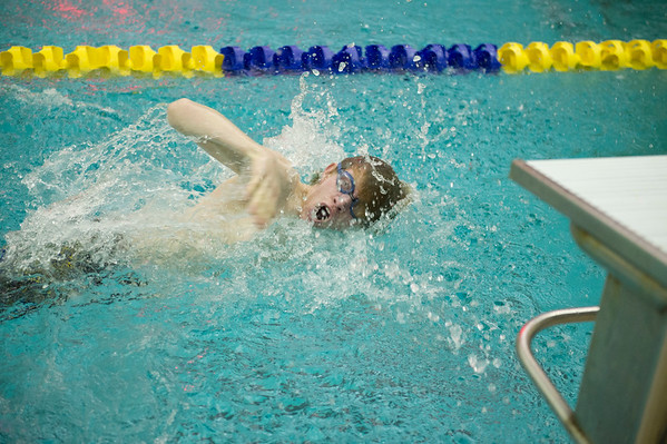 Joed Viera/Staff Photographer-Lockport High School senior Simon Powley competes in his last meet as a student.