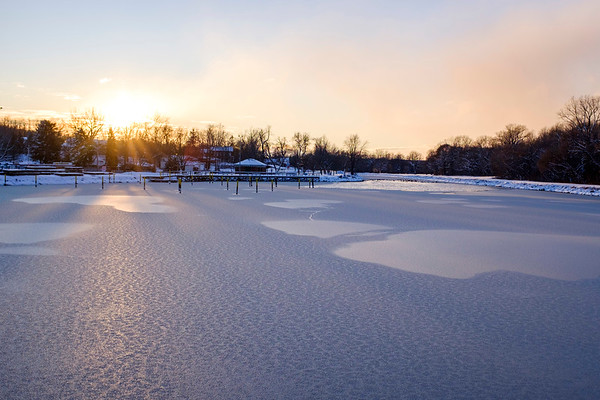 Joed Viera/Staff Photographer-A view of Nelson C. Goehle Marina. The canal is seeing Higher water levels than normal.