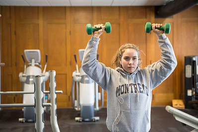 Joed Viera/Staff Photographer-Maddie Brick works out at Ultimate Physique.