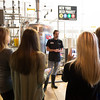 JOED VIERA/STAFF PHOTOGRAPHER-Lockport,NY- New York Beer Project head brewer Jason Crossett explains how beer is made to visitors from Perry's and Kalaid Health. NYBO will combine the flavors of Perry's Ice Cream with their beer recipes and donating some of their proceeds to charities.