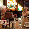 Joed Viera/Staff Photographer-Lockport High School Class of 1959 graduates  Donna Santarsiero and Jean Skop speak during the group's montlhy  lunch.