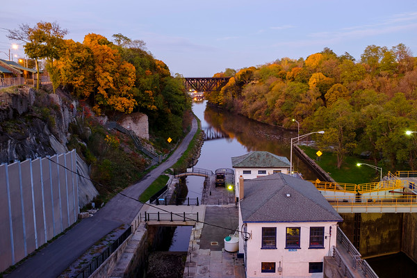 Joed Viera/Staff Photographer-Twilight settles over the Canal.