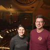 Joed Viera/Staff Photographer-Lizzie Schratz and Christopher Parada are hoping to raise donations for a restoration of the Historic Palace Theatre.