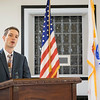 JOED VIERA/STAFF PHOTOGRAPHER-Lockport, NY-Nathaniel Manns reads his Voice of Democracy essay at VFW post 2535 Wednesday night. Manns Essay won the Post's and District's first place prizes and placed fourth in the State. Every year close to a 100,000 High school students compete for $2.1 million in educational scholarships and incentives awarded through the program. read Manns' and Shayla Tillmans second place essay on our editorial page.