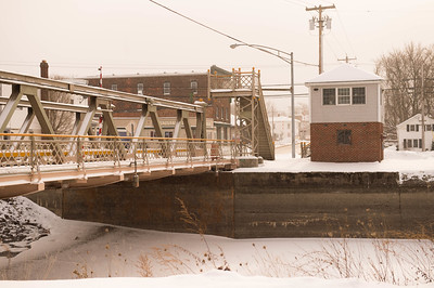 JOED VIERA/STAFF PHOTOGRAPHER-Gasport, NY-Snow falls over the Gasport Lift Bridge Thursday afternoon.