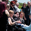 JOED VIERA/STAFF PHOTOGRAPHER-Newfane, NY-A Naval Officer hands a folded flag to Darlene Braun Gow, widow of Wayne B. Gow during his funeral. Gow, a Newfane resident served in the U.S. Navy as a Machinist's Mate 3rd Class from 1957- 61 worked at Simonds Saw and Steel from 1961-1968 then retired from Harrison Radiator in 1999. He was buried at Corwin Cemetary.