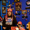 "Joed Viera/Staff Photographer-Tom ""Fuji"" Fawber has been a Bills fan all his life and he has a living room full of memorabilia to prove it. Wednesday evening the 70 year-old put on his Spikey hair construction hat before sharing his thoughts on the team.<br /> <br /> ""I haven't felt this way about the team in a long time."" Fawber said. ""I love this coach, I think this whole thing is happening because of the coach. This dude has got em playing the game."" he followed. ""I think for the first time in a long time we've got a coach that has got this team Believing.""<br /> <br /> His prediction for tonight's game? ""The Jets are going home losers."""
