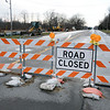 JOED VIERA/STAFF PHOTOGRAPHER-Lockport, NY-A section of Robinson Road is closed between the Bypass and East Canal Road for installation of a new water main.