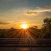 Belmont Rail Sunset