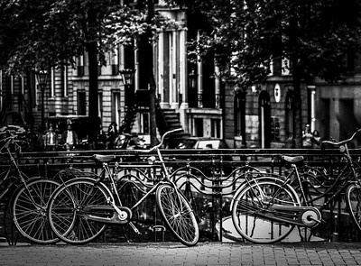 Black Bicycle Bridge Amsterdam