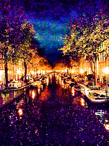 Shimmering Canal Amsterdam