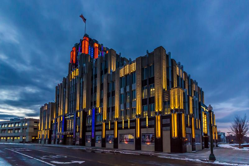 Niagara Mohawk Building in Syracuse Team Colors