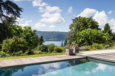 30146722A LAKE ANNECY, FRANCE - AUGUST 26th, 2013:  A home for sale in Lake Annecy for the International House Hunting column.