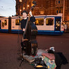 Nederland, Amsterdam; 31 januari 2009,<br /> straatmuzikant Elias op het Leidsepleijn, foto: Katrien Mulder
