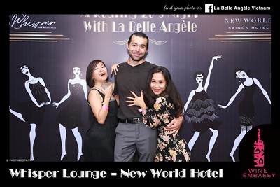 La Belle Angèle + Wine Embassy Dance Party @ New World Hotel Saigon - instant print photobooth - Chụp hình in ảnh lấy liền sự kiện