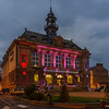 Hotel de Ville, (Town Hall) Vernon France with its Christmas decorations still displayed