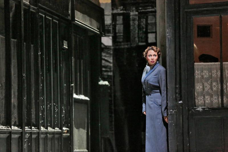 Soprano Alyson Cambridge is Mimi in San Diego Opera's LA BOHEME (January/February, 2015). Photo by Ken Howard.
