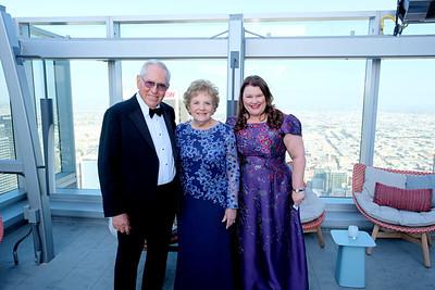 Lifetime Legacy Honorees Sam and Grace Carvajal with Dr  Annette Ermshar