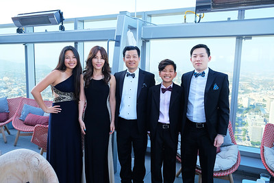 Diane and Young Lee, Physician Hero Award recipient Dr  Lance Lee with Brandon and Eugene Lee