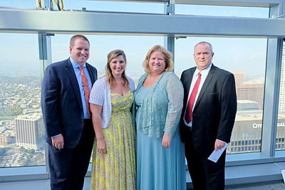 Andrew and Lauren Day, Adventist Health Glendale interim CEO Terri Day and Tim Day
